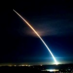 Minuteman III Missile night launch