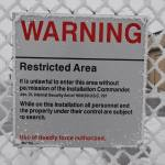 Warning - Restricted area sign at Launch Control Facility Delta-01