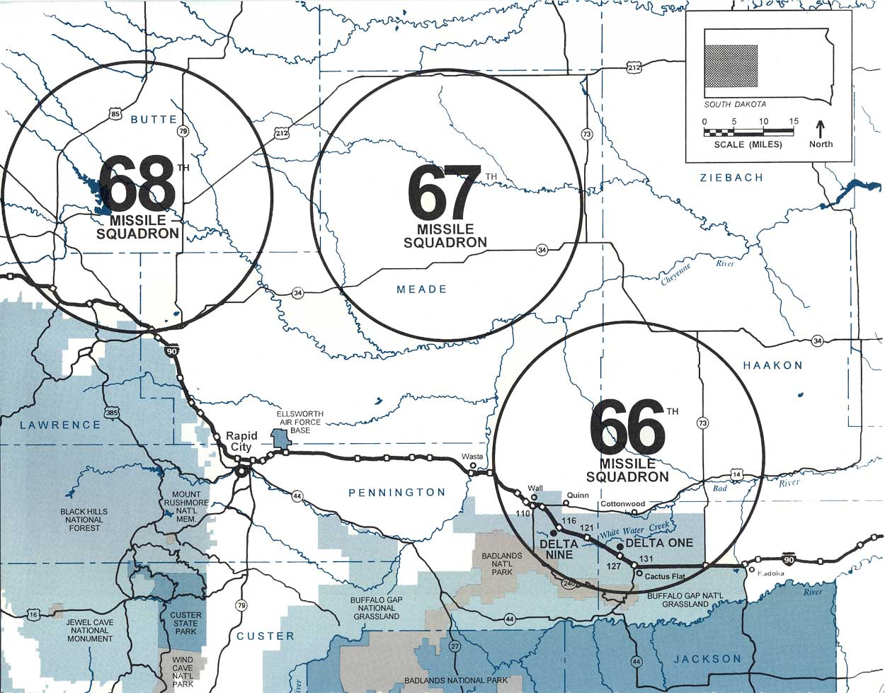 Map Showing The General Area Of The 3 Squadrons 66th 67th 68th Which Made Up The 44th Missile Wing