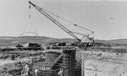 Historic image of Launch Facility (Missile Silo) construction