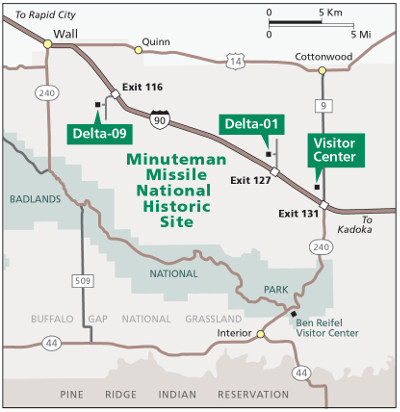 Directions Minuteman Missile National Historic Site US - Map of us national park historical sites