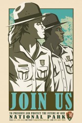 Poster showing two rangers looking off into the distance.
