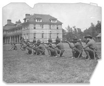 Officers training at Fort Snelling, 1916.