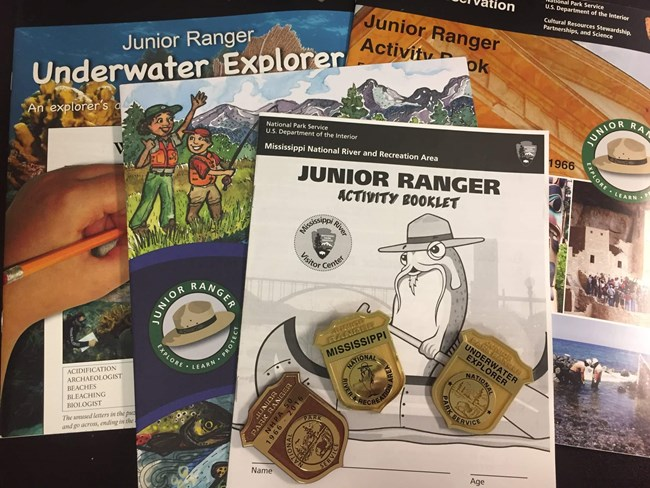 Various examples of Junior Ranger activity badges.