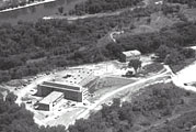 An aerial view of the Bureau of Mines (Coldwater) taken in 1959.