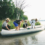 NPS Rangers assisting a party of canoeists