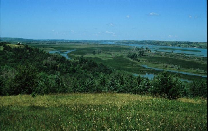 View of the Missouri National Recreational River from Niobrara State Park