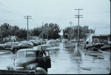 The Missouri River flooded in 1952 before all the Pick-Sloan Plan dams had been completed