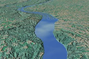 Portion of the 39-mile reach of the