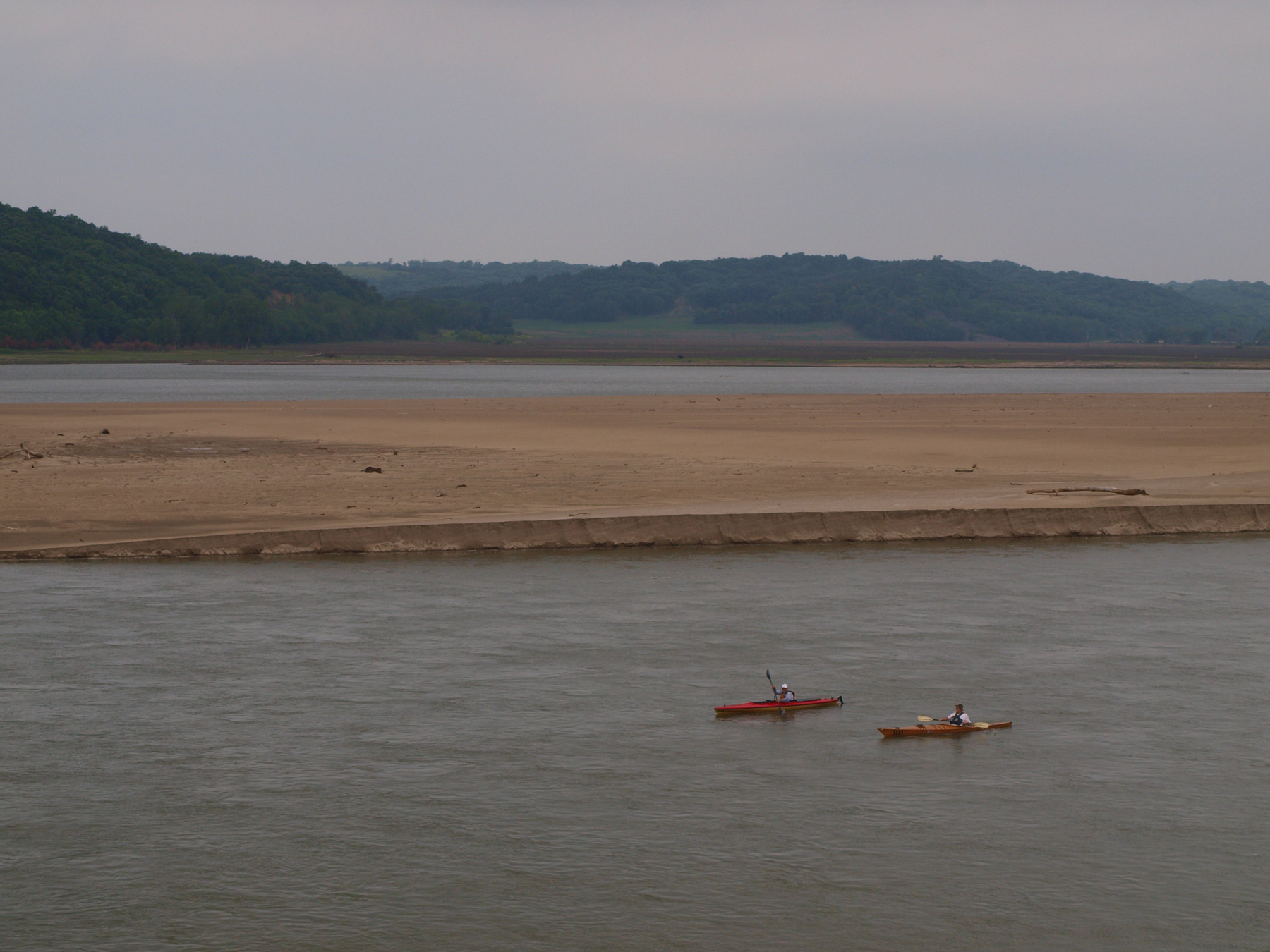 "Kayaking or canoeing the Missouri River is another way to explore the ""Big Muddy""."