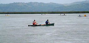 Canoeists on the river