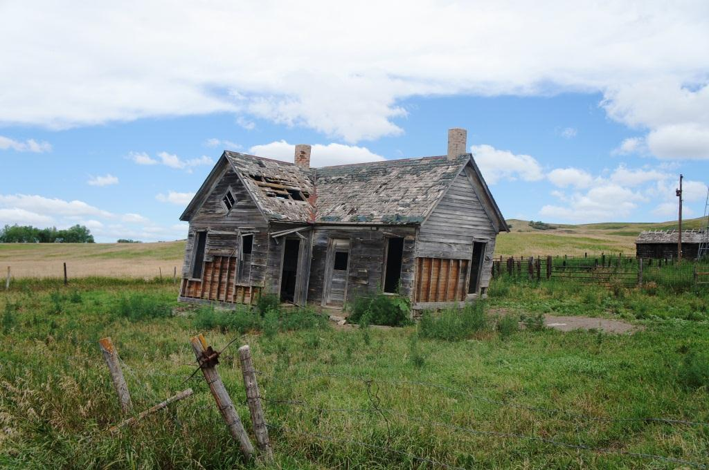 Abandoned homestead in the Niobrara River Valley