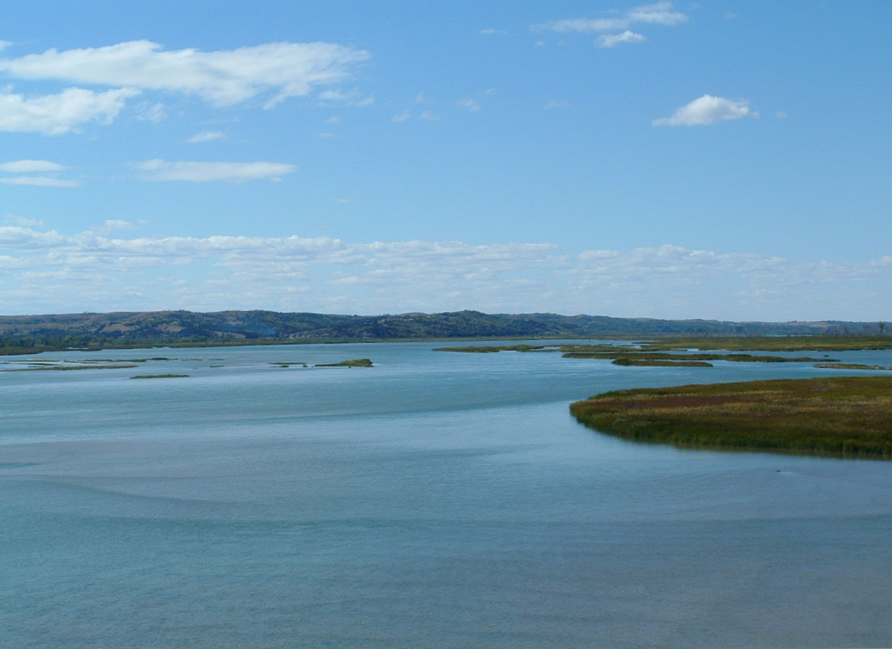 View of the Missouri River from Chief Standing Bear bridge