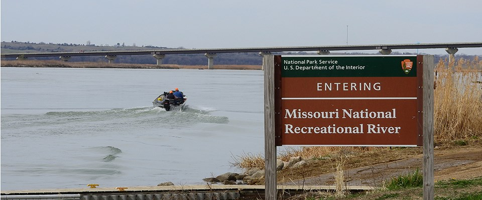 Anglers heading out on a motorboat is one way to fish the river.