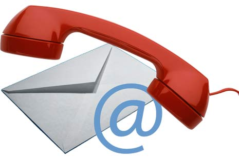 Phone, letter, email