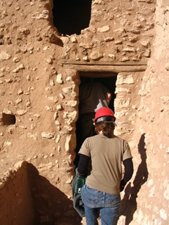Archeologists entering Montezuma Castle