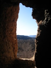 The view from inside Montezuma Castle