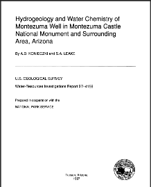 Hydrogeology and Water Chemistry of Montezuma Well