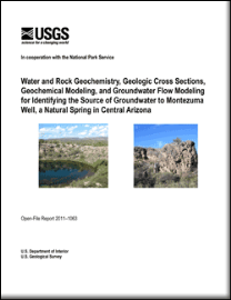 USGS report of geochemistry of MOWE water