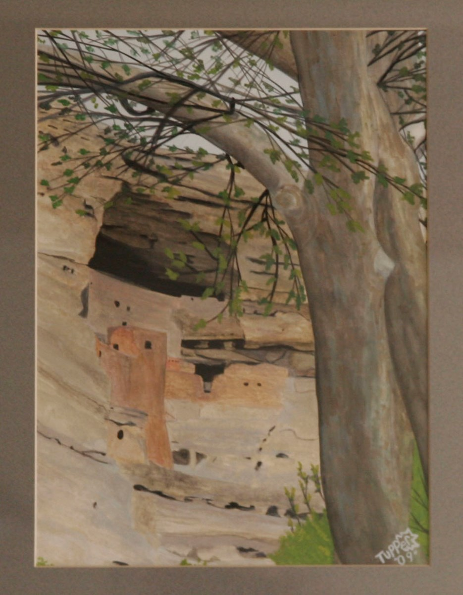 Painting of Montezuma Castle by Tupper