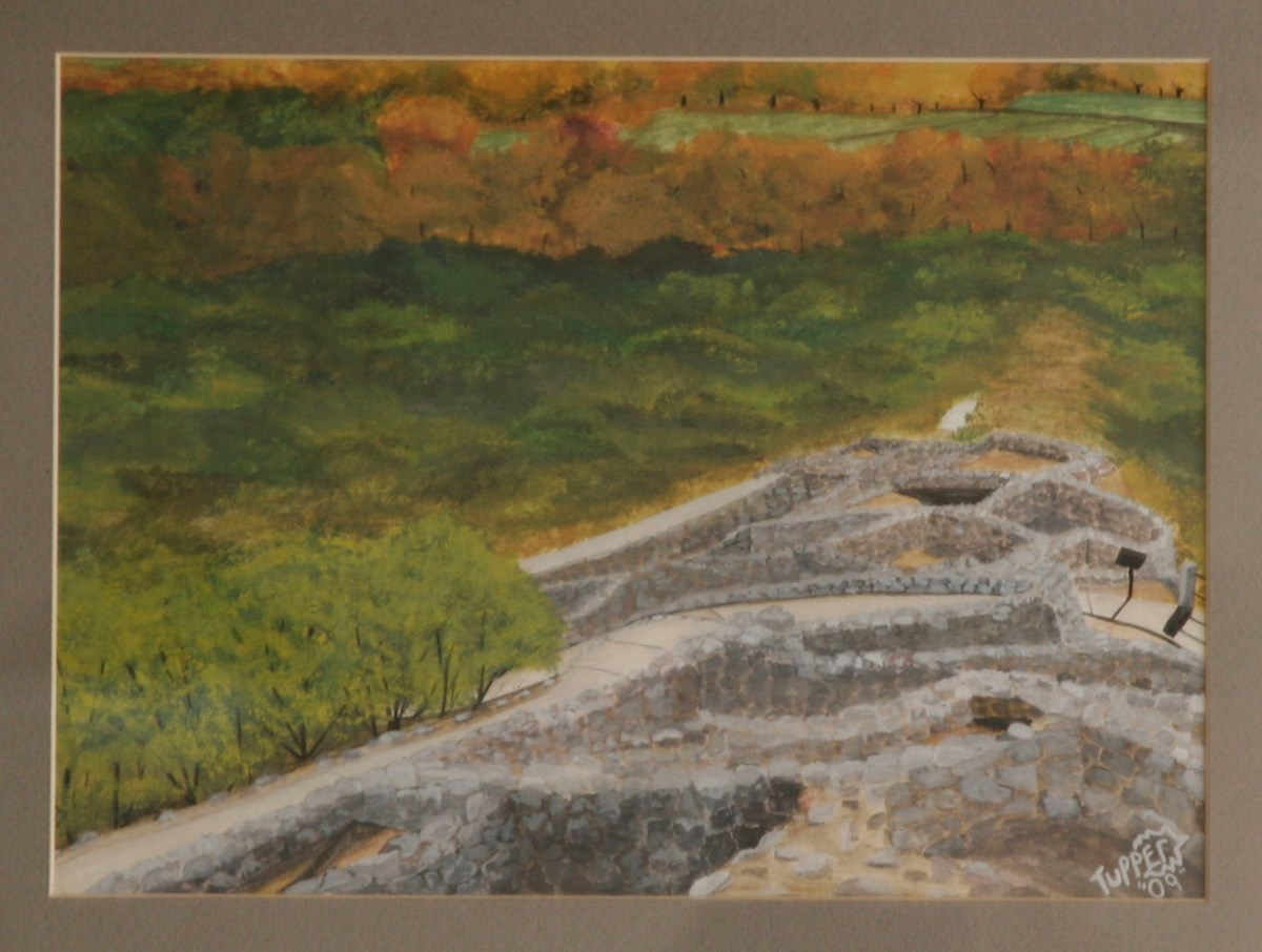 Tuzigoot painted by Tupper