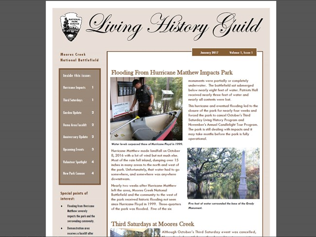 The Moores Creek National Battlefield Quarterly Newsletter