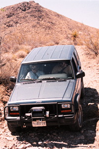 Four-wheel driving at Mojave National Preserve.