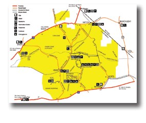 Roads and Facilities Map
