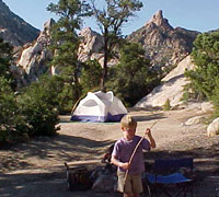 photo of camper at Caruthers Canyon