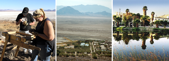 3 Scenes from the Desert Studies Center, Zzyzx, Calif.