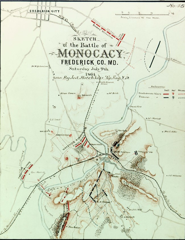 Hotchkiss Map of the Battle of Monocacy