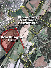 Worthington Farm within Monocacy National Battlefield