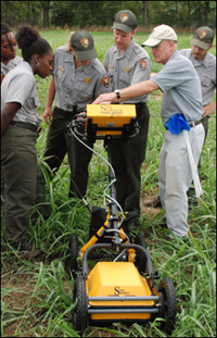 Surface penetrating radar