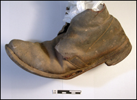 A Union enlisted man's shoe - known as a brogan or