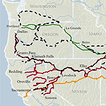 Map of new routes in the Four Trails Feasibility Study