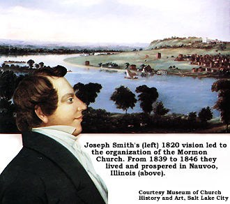 Joseph Smith's 1820 vision led to the organization of the Mormon faith.