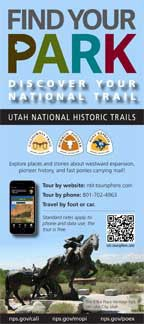 Utah National Historic Trails rack card image font