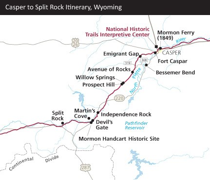 Rock Springs Wyoming Map.Itinerary For Wyoming Mormon Pioneer National Historic Trail U S