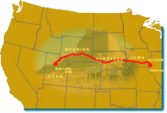 Maps Mormon Pioneer National Historic Trail US National Park - Salt lake city map of us