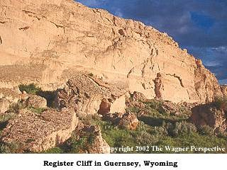 Photo of Register Cliff near Guernsey, WY.