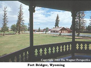 This is a photo of Fort Bridger, Wyoming