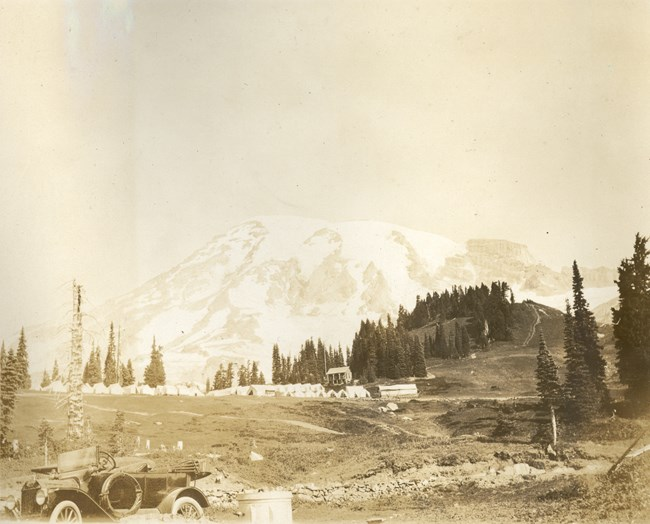 Reese's Camp, or Camp of the Clouds, stood on the shoulder of Alta Vista hill in 1915.