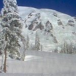 A still shot from the Mountain webcam taken February 27, 2012.