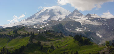 Mount Rainier's wilderness as seen from the Cowlitz Divide