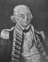 Man with glasses in a colonial military uniform