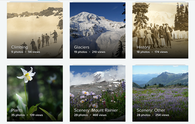 A picture of album on the Mount Rainier Flickr page.