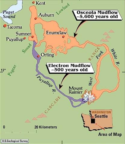 USGS Volcano Hazards Program CVO Mount Rainier Volcanic Hazard - National parks of the us map