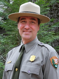A man wearing a National Park Service uniform