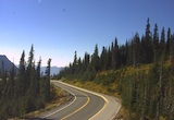 Looking west at the road to Paradise from the Jackson Visitor Center. Thumbnail photo taken from webcam on October 11, 2012.