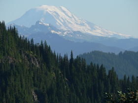 View of Mount Adams from the Naches Peak Loop Trail.